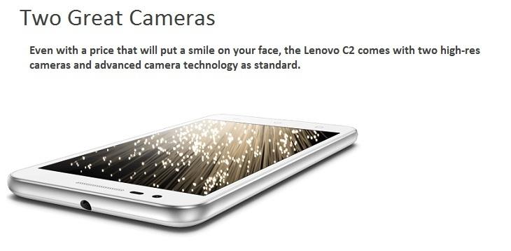 Lenovo Vibe C2 8MP + 5MP