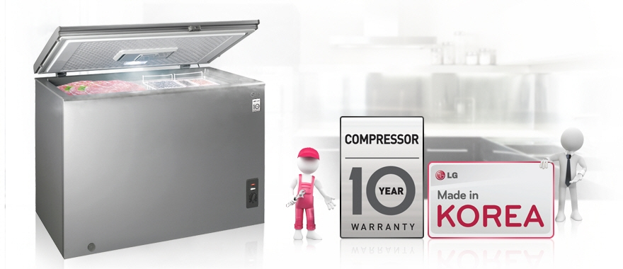 Compressor 10 Year Warranty & Made in Korea