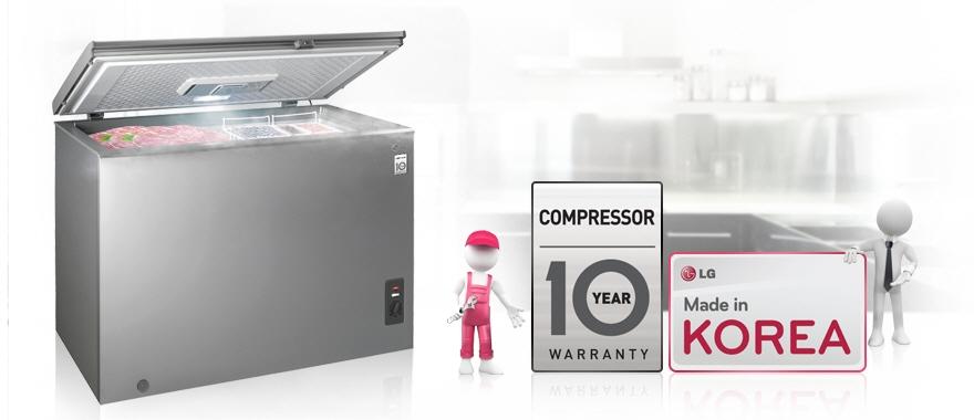 Compressor 10 Year Warranty & Made in Korea