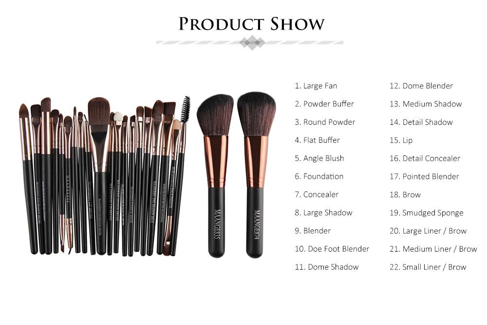 Buy Maange Maange 22pcs Foundation Blush Eye Shadow Makeup