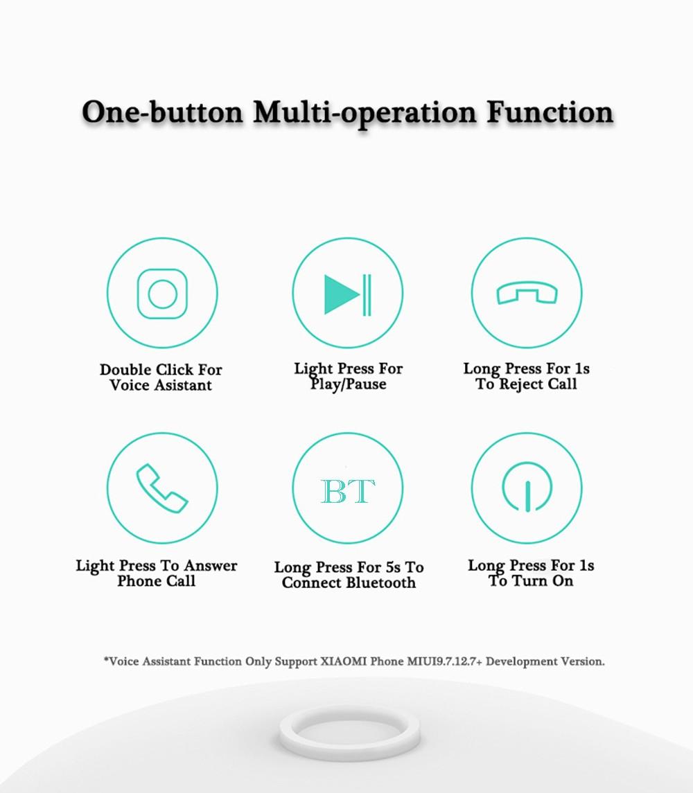 Xiaomi LYEJ05LM Mini In-ear Single Bluetooth Earphone Wireless Ultralight IPX4 Waterproof Earbud with Magnetic Charging