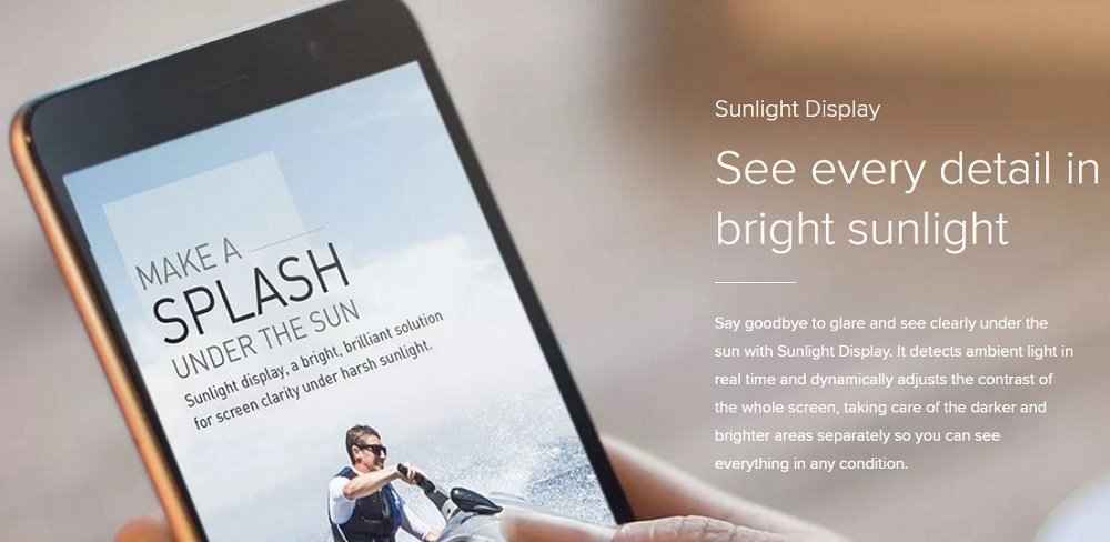 Mi Note 3 sunlight display on Jumia at the best price