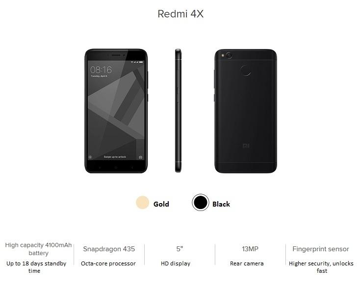 Redmi 4x specs on Jumia nigeria