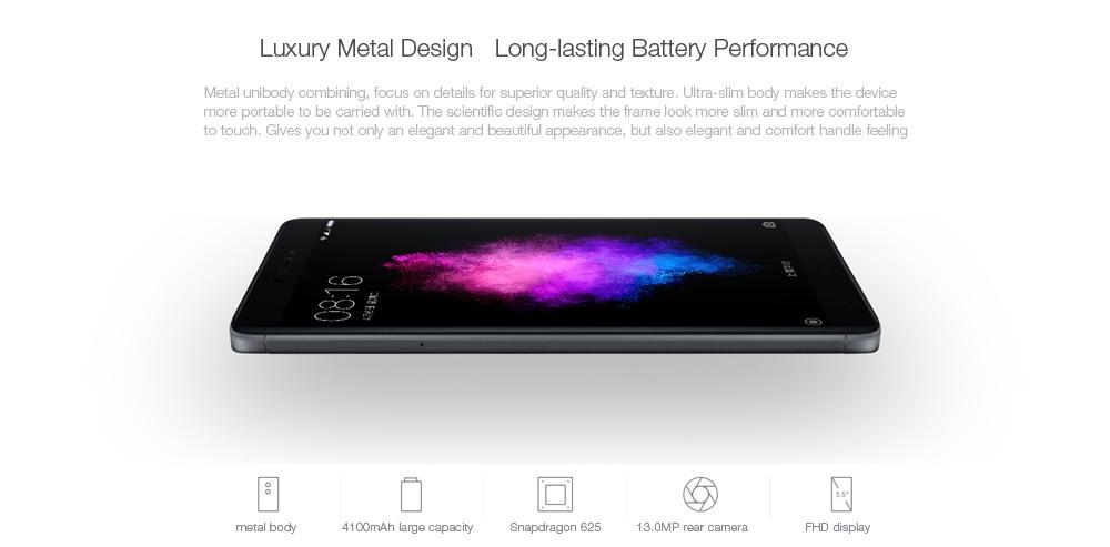 Xiaomi Redmi Note 4X 4G Phablet 5.5 inch Android 6.0 Snapdragon 625 Octa Core 2.0GHz 3GB RAM 32GB ROM Fingerprint Sensor Dual WiFi 4100mAh Battery