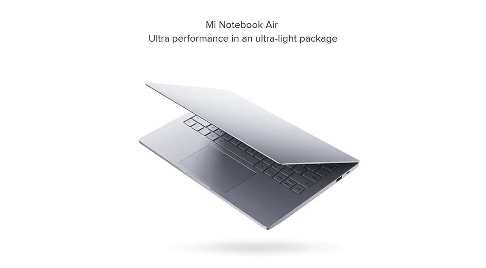 Xiaomi Air 12 Notebook Windows 10 Intel Core m3-6Y30 Dual Core 12.5 inch IPS Screen 4GB RAM 128GB SSD AKG Spearker Front Camera Bluetooth 4.1 Type-C