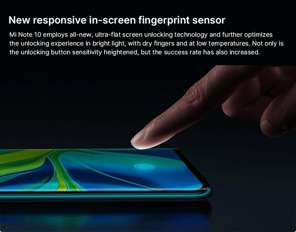 Xiaomi Mi Note 10 6.47 Inch 4G LTE Smartphone Snapdragon 730 6GB 128GB 108.0MP + 12.0M + 20.0MP + 5.0MP + 2.0MP Penta Rear Cameras NFC Fingerprint ID Dual SIM MIUI 11 Global Version - Grey