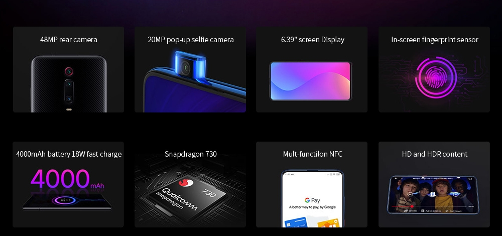 Xiaomi Mi 9T 4G Phablet 6.39 inch Snapdragon 730 Octa Core 6GB RAM 64GB ROM 48.0MP + 13.0MP + 8.0MP Rear Camera 4000mAh Battery