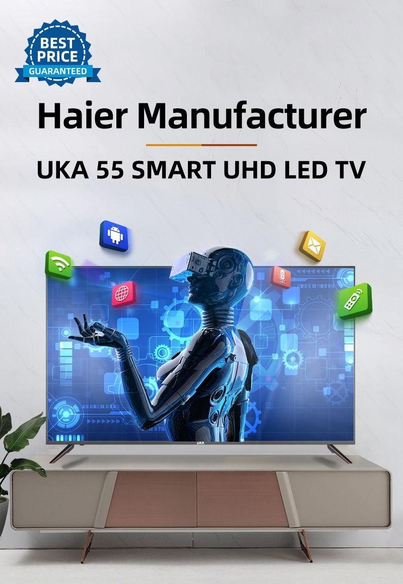 UKA 55 Smart LED UHD TV - Haier Manufacturer - Black | Jumia