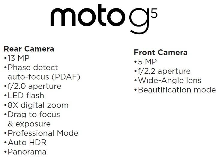 Motorola G5 camera