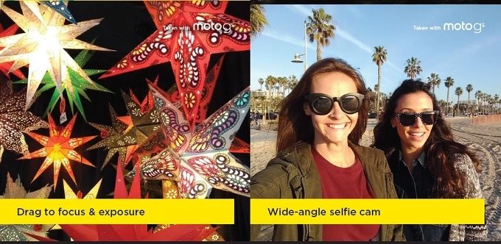 Motorola G5 wide angle selfie cam