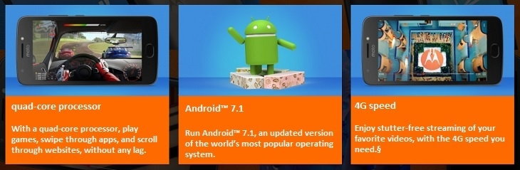 Motorola Moto e4 quad core android 7.1
