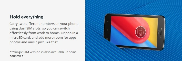 Moto C 4G online dual SIM