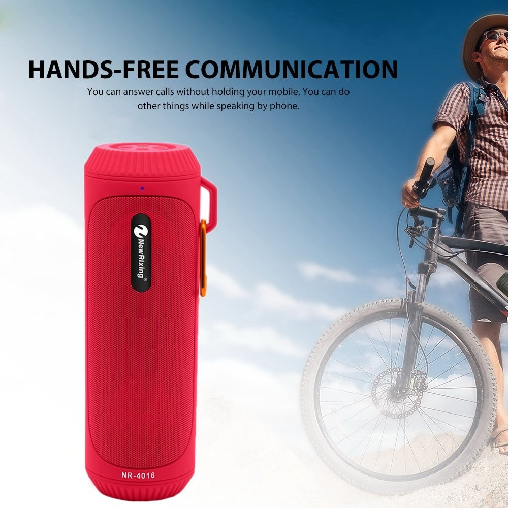 newrixing NR - 4016 Outdoor Portable Waterproof Mege Bass Bluetooth Speaker- Black