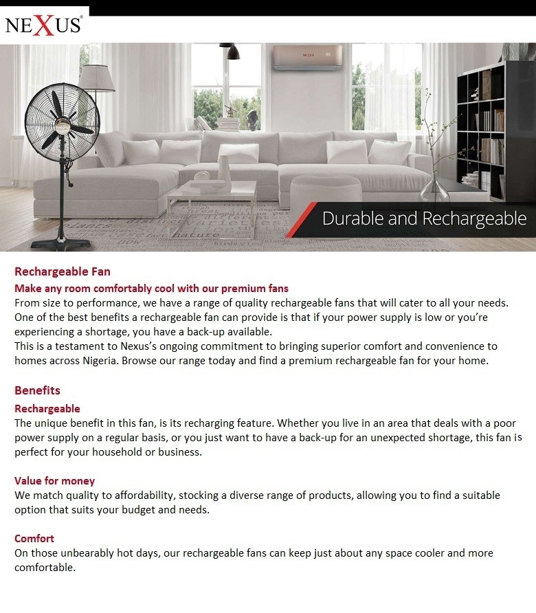 cheap high quality nexus rechargeable fans in nigeria