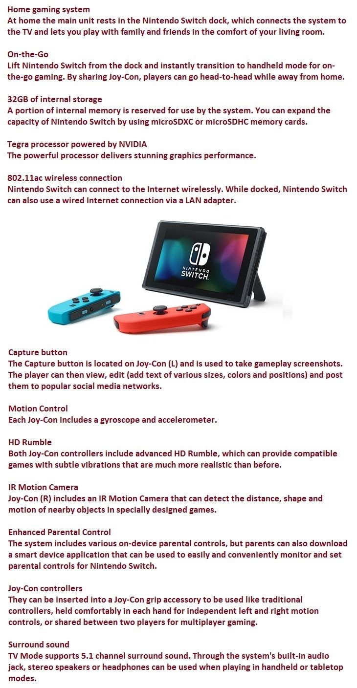 nintendo switch blue/red