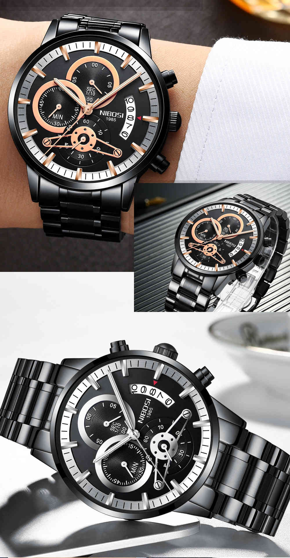 watches military display date black watch hand strap valentines business dial top leather luxury clock wristwatch fashion ochstin brand chronograph him men for products gifts