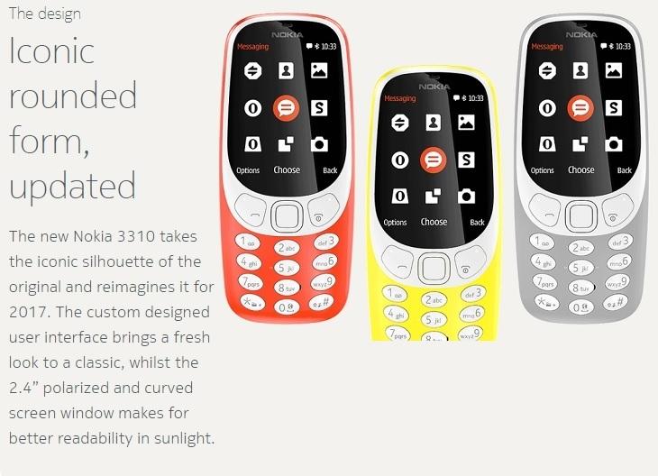 Nokia 3310 iconic rounded form