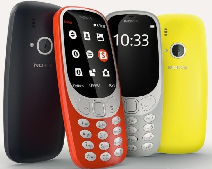 Nokia 3310; four colours
