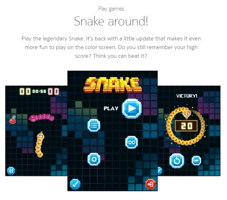 Nokia 3310 snake around
