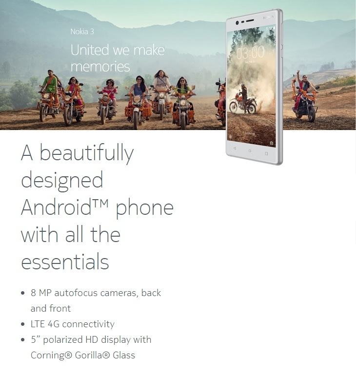 latest Nokia 3 on Jumia