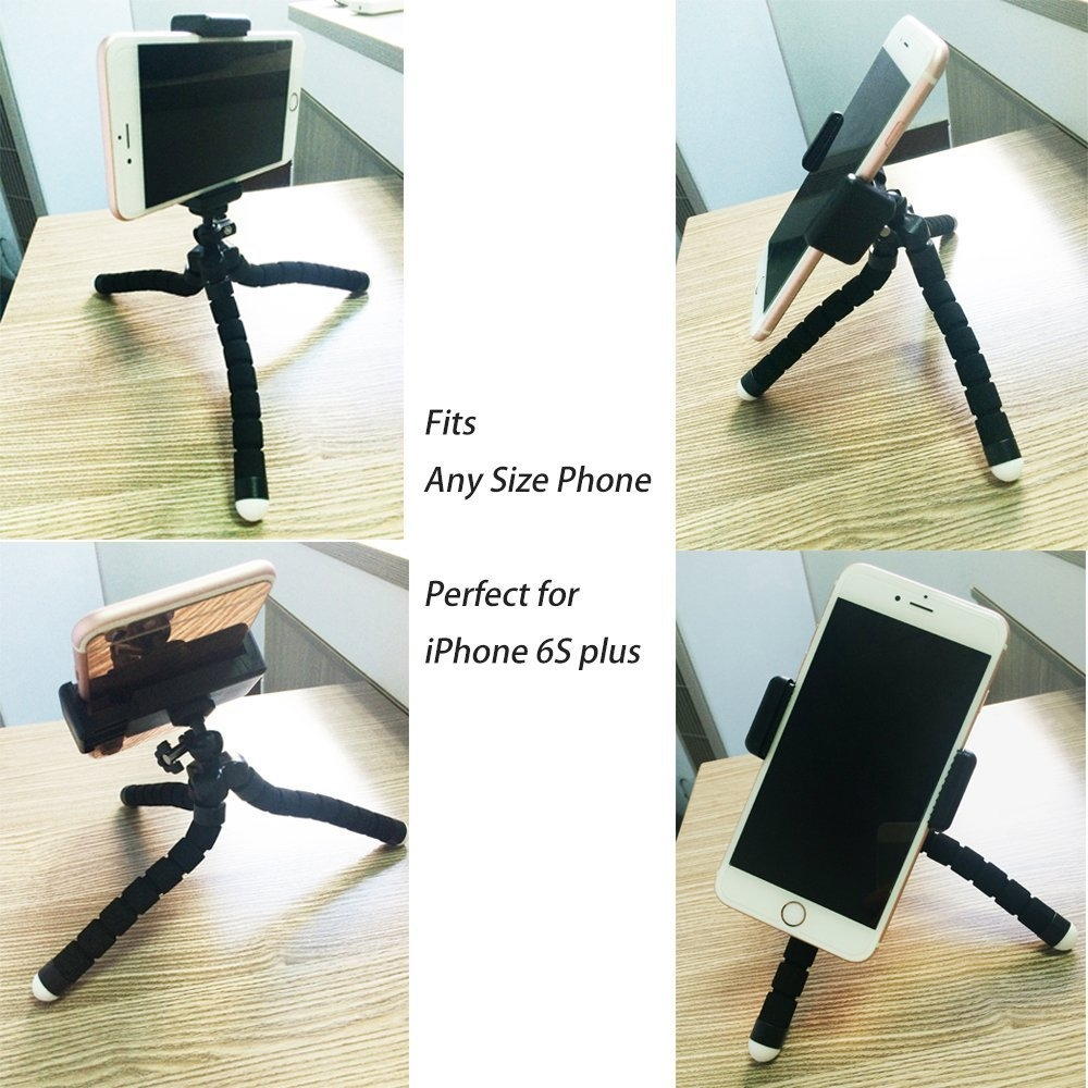 2adc2f43f137d16086b9164c5e475745 Octopus Tripod Stand Holder Universal Clip & Remote For Smartphones & Camera   Black price on jumia