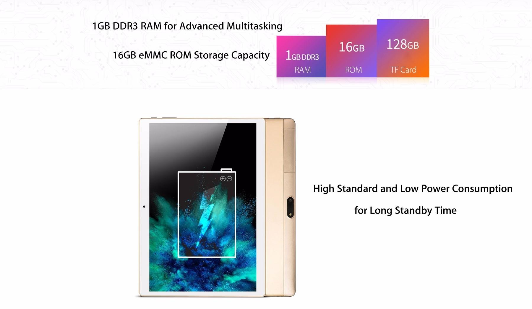 Onda V10 3G Phablet 10.1 inch IPS Screen Android 5.1 MTK8321 1.3GHz Quad Core 1GB RAM 16GB eMMC Dual Cameras GPS