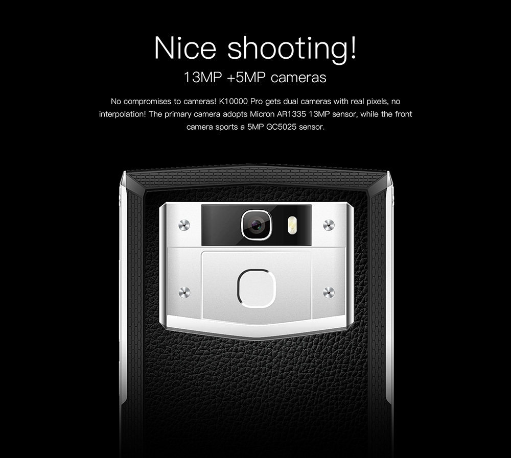 OUKITEL K10000 Pro 4G Phablet 5.5 inch Android 7.0 MTK6750T Octa Core 1.5GHz 3GB RAM 32GB ROM 13.0MP Rear Camera 10000mAh Battery Press Fingerprint