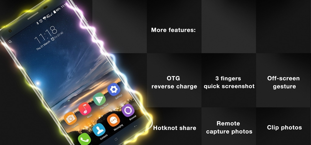 Oukitel K6000 Pro 5 5-Inch HD (3GB,32GB ROM) Android 6 0 Marshmallow, Dual  SIM 6000 MAh 4G Phablet - Silver