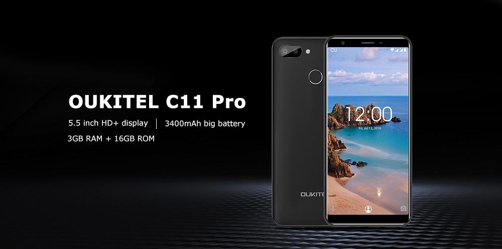 OUKITEL C11 Pro 4G Phablet MTK6739 Quad Core 3GB RAM 16GB ROM