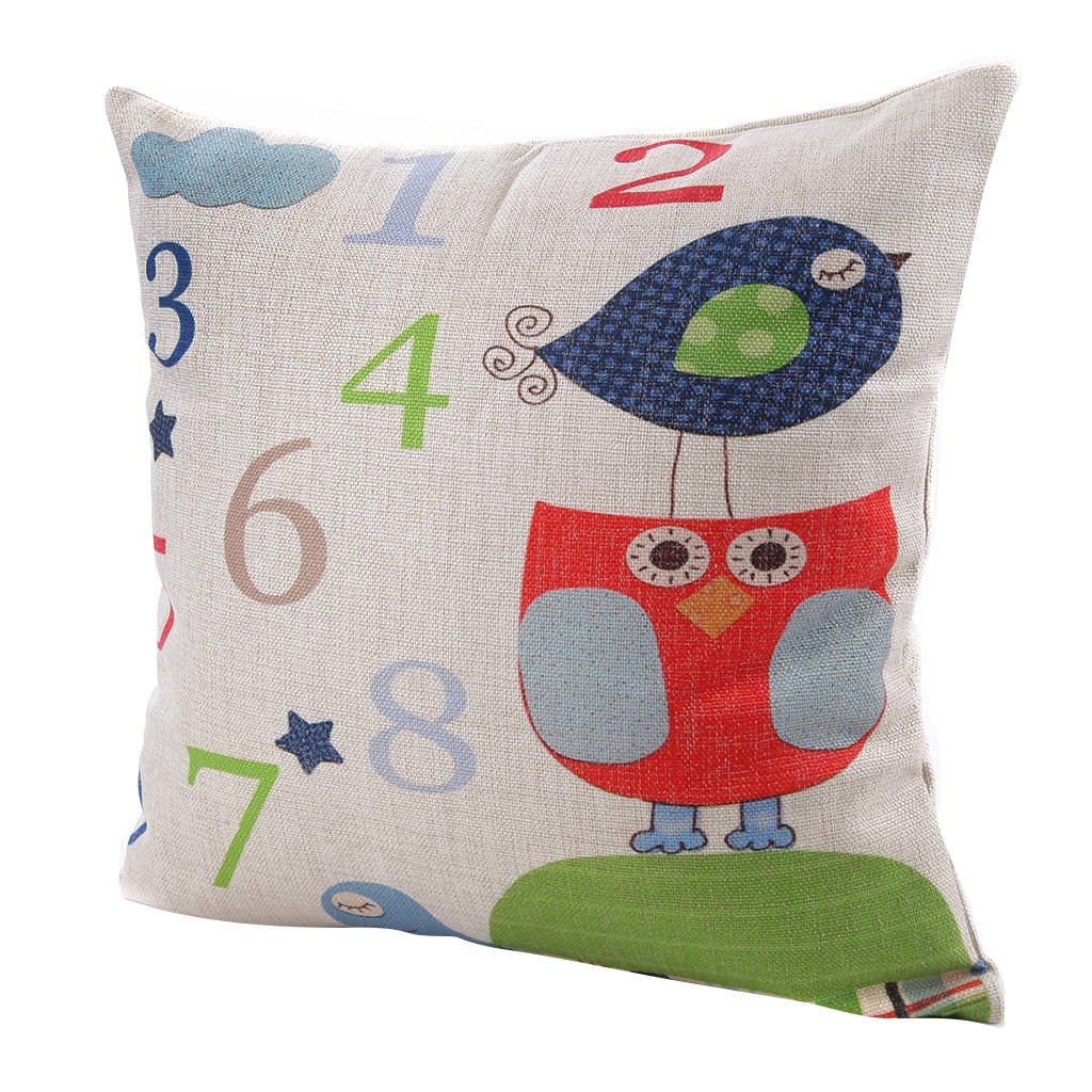 Average Throw Pillow Sizes : Ovonni 18 inch Square Cute Numbers Throw Pillow Buy online Jumia Nigeria