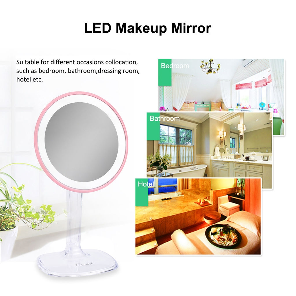 Bathroom Mirror Jumia ovonni rm166 - 5x maginifcation 24pcs led lights makeup mirror 360