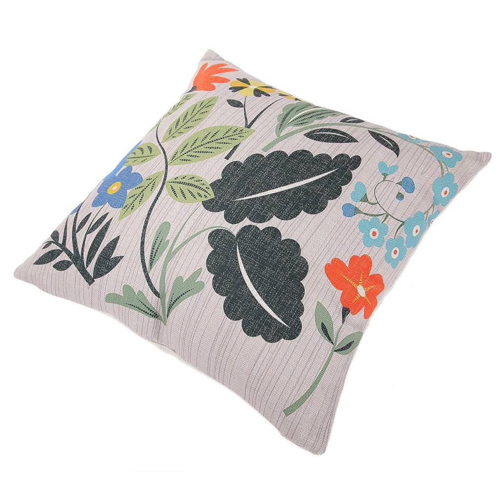 18 Vivid And Chic Mid Century Bedroom Design Ideas: Ovonni 18 Inch Square Vivid Spring Throw Pillow