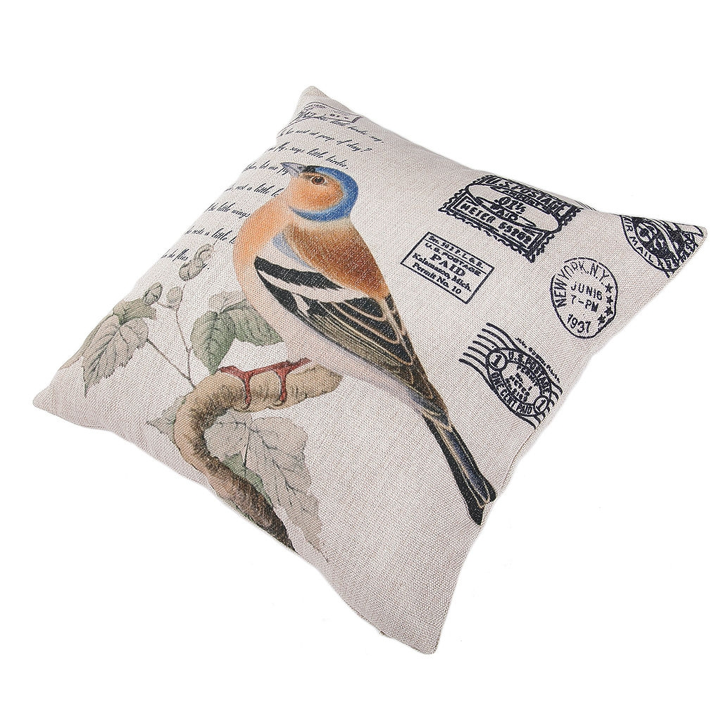 Throw Pillow Jumia : Ovonni Q285 - Oriole Postcard-2 18 Inch Square Linen/Cotton Throw Pillow Buy online Jumia ...