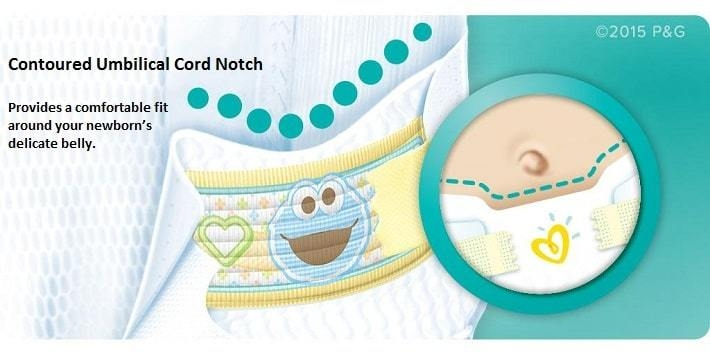 Pampers Swaddlers Umbilical Cord Notch