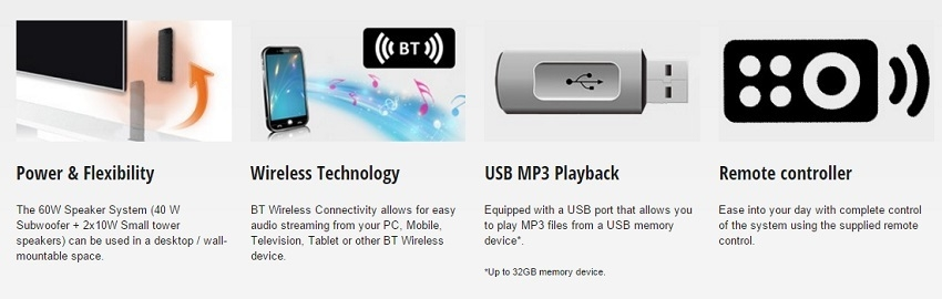 Panasonic SC-HT31 2.1 Channel Speaker System on Jumia