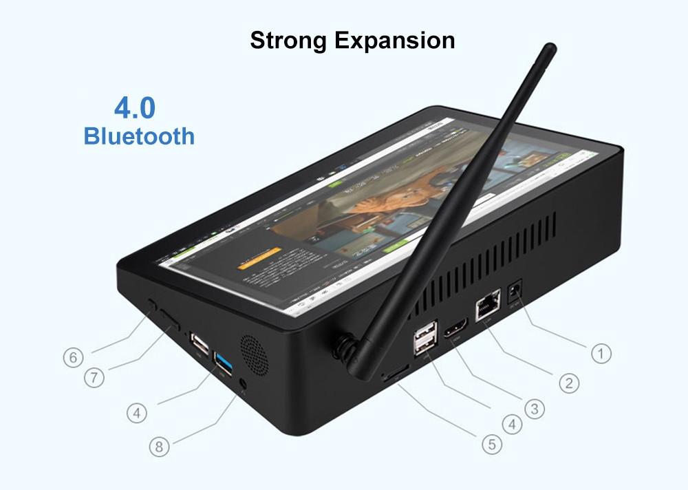 PIPO X10PRO Intel Cherry Trail Z8350 4GB DDR3L + 32GB ROM Mini PC Support Windows 10 2.4G WiFi 100Mbps BT4.0