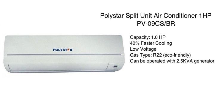Polystar 1HP Air Conditioner