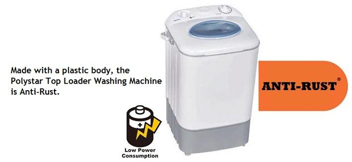 Polystar Top Loader Washing Machine