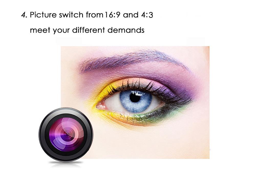 RUISHIDA M1 Mini 1500 Lumens 800 x 480 Pixels Projector with VGA HDMI USB SD Card Slot for Home Office Education