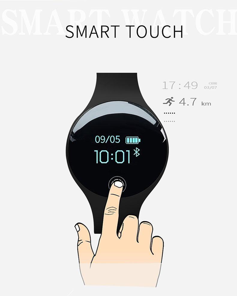 Sanda SANDA Color Touch Screen Smart Watch Men Motion Detection