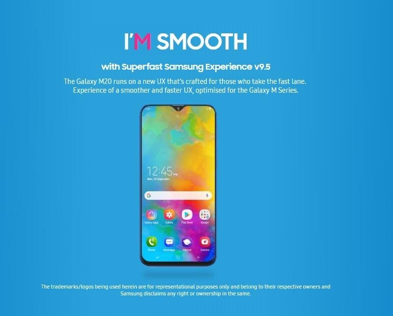 Galaxy M20 6 3-Inch Infinity FHD+ (3GB, 32GB ROM) Android 8 1 (Oreo) (13MP  + 5MP) + 8MP Dual SIM 4G - Charcoal Black