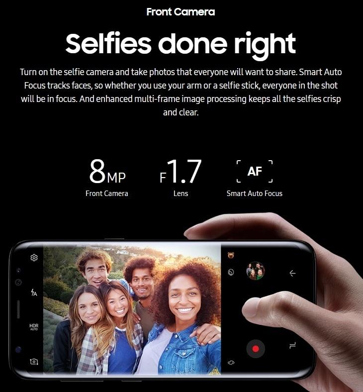 Samsung S8 S8+  8MP Camera