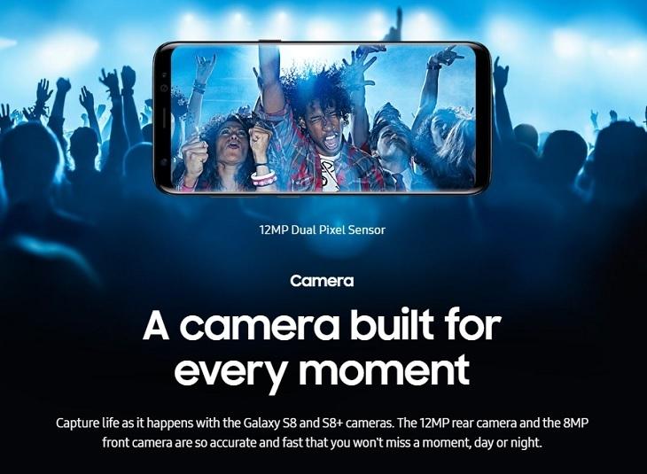 Samsung S8 S8+  12MP Camera