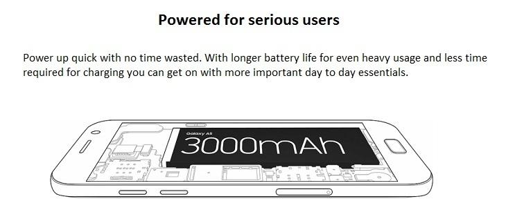 Samsung Galaxy A5 (2017) 3000mah battery