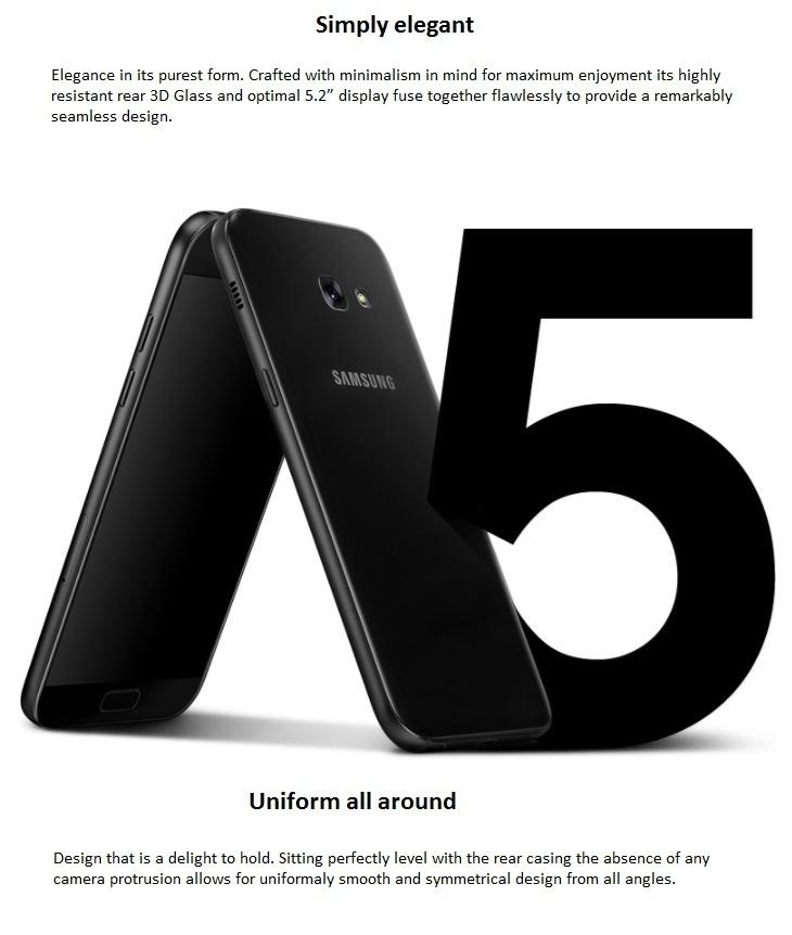 Samsung Galaxy A5 (2017)  5.2 inch screen