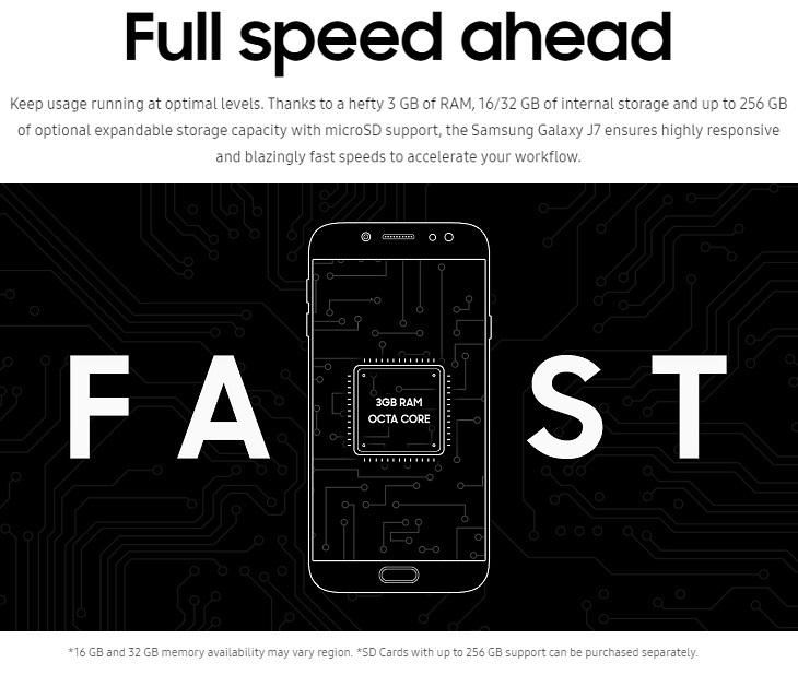 Samsung Galaxy J7 Pro 3GB RAM