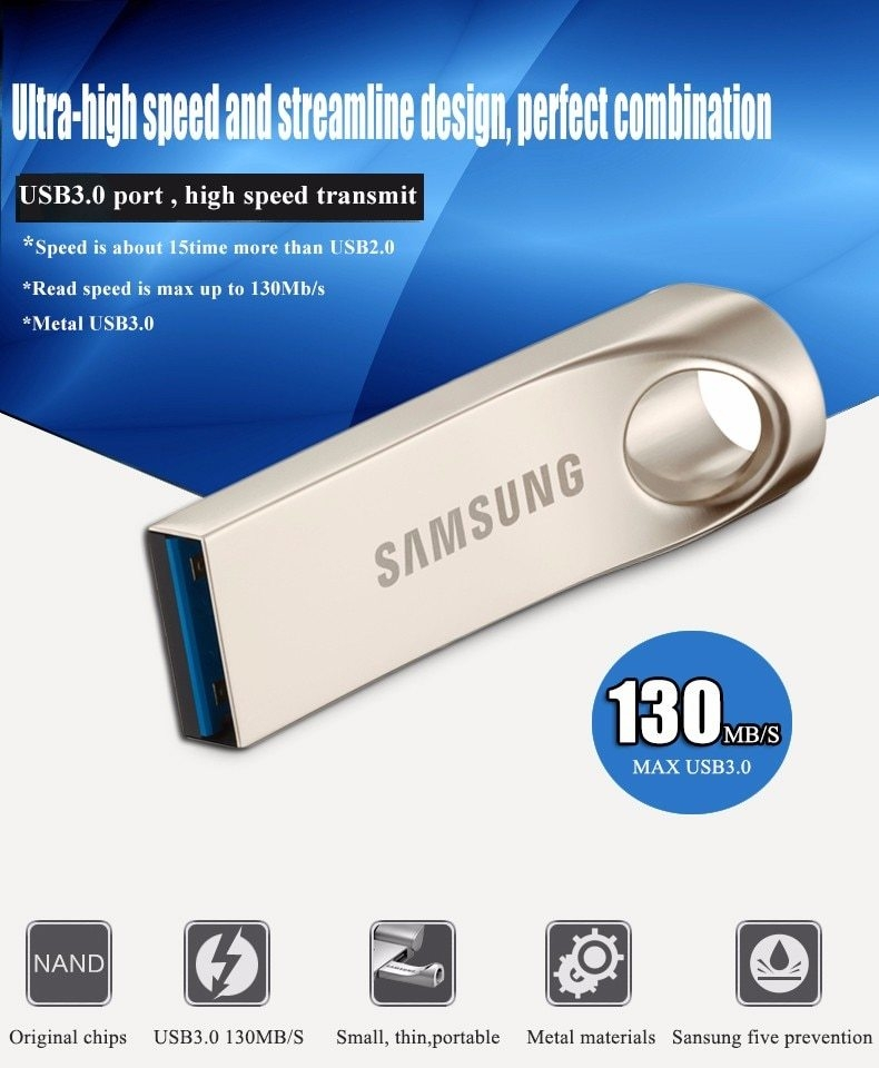 SAMSUNG USB Flash Drive Disk 32G 64G 128G USB3.0 Pen Drive Tiny Pendrive Memory Stick Storage Device U Disk Mini Flashdrive (1)
