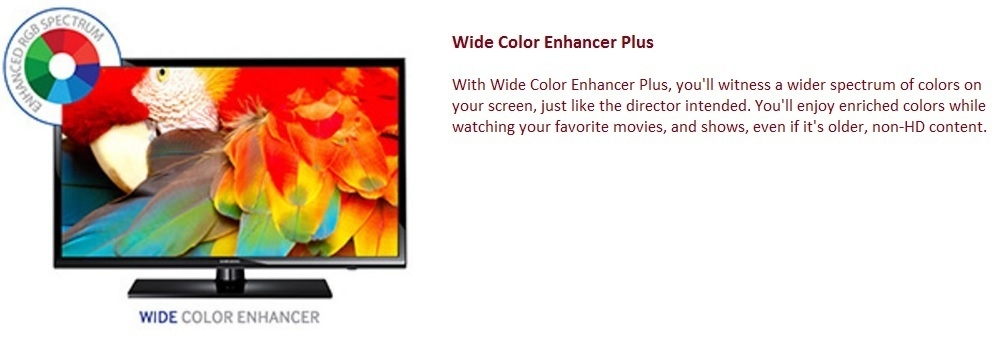 Samsung 40 Inch 40H5003 Full HD LED TV wide colour enhancer plus
