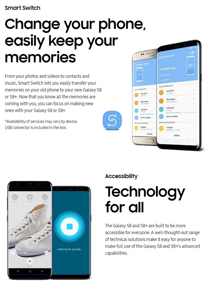 Samsung Galaxy S8 Plus (S8+) single Sim 64GB ROM/4GB RAM
