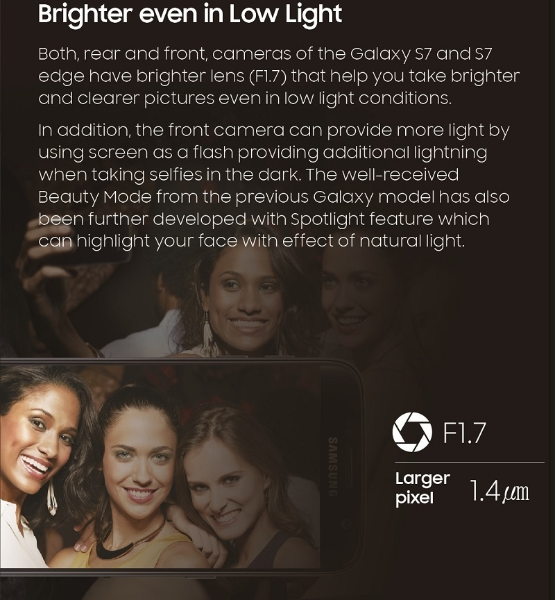 Galaxy S7 Camera Specifications